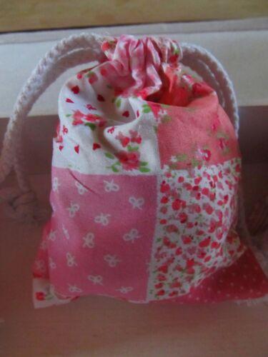 24 Beutel Säckchen Patchwork Flicken Wäschebeutel rosa Prinzessin Blume Neu