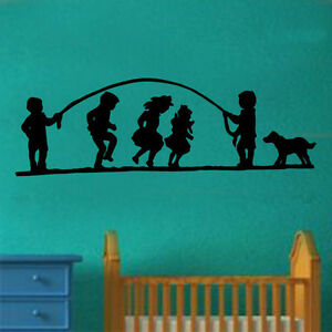 Belle Les Enfants De Sauter Autocollant Mural Vinyle Autocollant Art Chambre Enfants Garçons Filles Décoration-afficher Le Titre D'origine Marchandises De Proximité