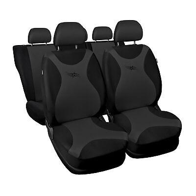 ford ka dunkel grau turbo universal sitzbez ge sitzbezug auto schonbez ge ebay. Black Bedroom Furniture Sets. Home Design Ideas
