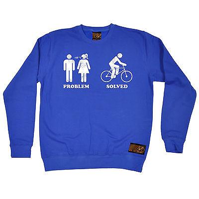 Problem Solved Cycling RLTW SWEATSHIRT jumper cyclist cycling birthday gift