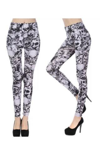 NEW WOMEN LADIES FULL LENGTH LEGGINGS JEGGINGS STRETCHY PANTS SKINNY Size 8-26