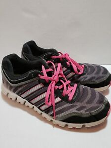 outlet store cba3f 2192f Image is loading ADIDAS-CLIMA-COOL-Black-Pink-Gray-Sneakers-Walking-