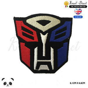"""Sew On Transformers Optimus 2.5X2.5/"""" Autobot Logo Embroidered IRON ON PATCH"""
