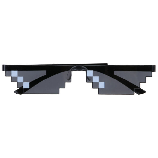 0703882240 Thug Life Sunglasses Deal With It 8 Bit Pixel Glasses Mlg Unisex Goggles -  NEW