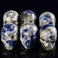 1 Pic 2 Inch Natural Sodalite Crystal Skull Crystal healing home decor gift