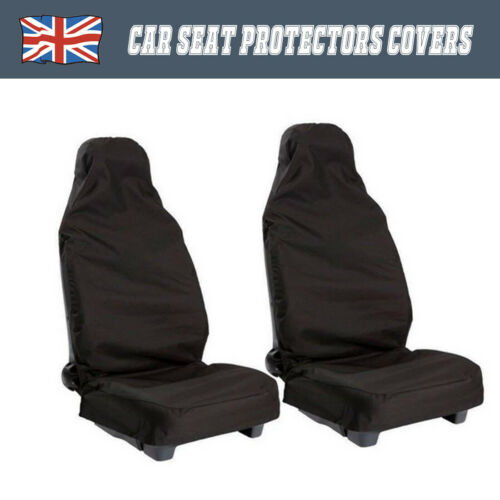 2× Black Front Universal Waterproof Nylon Car Vehicle Seat Cover Dusty Protector