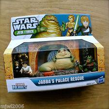 STAR WARS Jedi Force JABBA'S PALACE RESCUE PLAYSKOOL HEROES Hasbro VHTF 6pk set