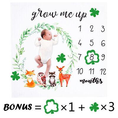 Baby Windbell Animal Monthly Milestone Blanket Boy Girl Photography Props