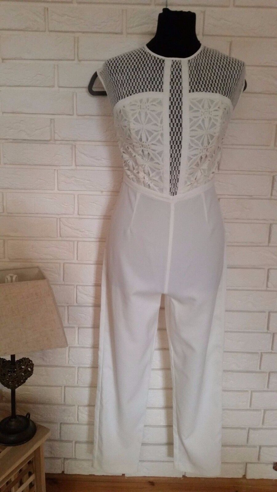 ASOS Premium Jumpsuit With Embroidered Panels size 8 uk