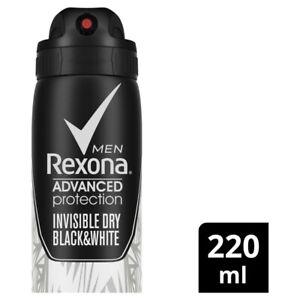 Rexona Men Antiperspirant Aerosol Advanced Invisible Dry Black & White Deodor...