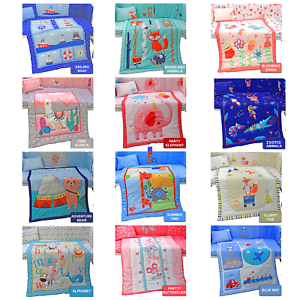 Complete-Baby-Nursery-Bed-Bedding-Set-Cot-Quilt-Duvet-Bumper-Fitted-Sheet-Pillow
