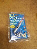 2 In 1 Keychain Laser Pointer Bright Led Flashlight
