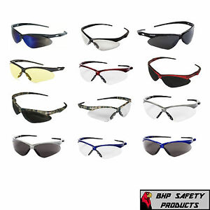 JACKSON NEMESIS SAFETY GLASSES SUNGLASSES SPORT EYEWEAR ASSORTED COLORS (1 PAIR)