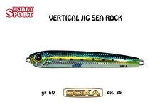 SEA ROCK SEIKA 60 gr Col SJ-25 blu - VERTICAL JIG - spinning jig