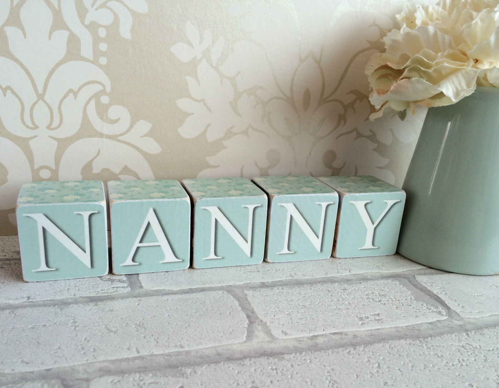 Hecho A Mano Personalizado Foto Cubos Nanny Nanny Nanny Nan Momia Mamá Keepsake actual De Regalo 41a608