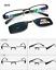 Polarized-Magnetic-Clip-on-Sunglasses-Eyeglass-Frames-Fishing-Glasses-Rx miniature 50