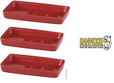 3 X Sanwood 20693815 Seifenablage JESTER Seifenschale aus Keramik Rot2,5 x 15,5