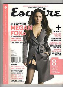ESQUIRE-UK-British-December-2009-MEGAN-FOX-Michael-Caine-Melanie-Laurent-USED