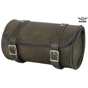 Motorcycle Tool Bag >> Details About Dark Brown Leather Water Resistant 10 Motorcycle Tool Bag Universal Fitting