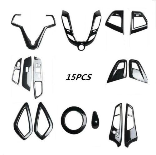 15PCS Carbon fiber style interior kit trim For Hyundai Veloster ...