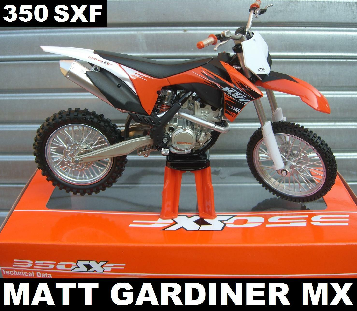 Ktm sxf 350 - 13.12 uhr  kamelhaar. modellino motocross - mx motocicletta modello giocattolo neue