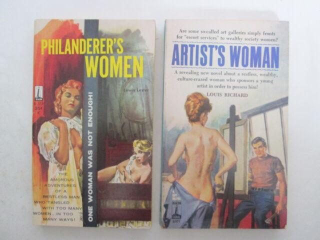 2 PB's~Philanderer's Women~L. Lester~1960~Artist's Woman~L.Richard~PBO~1963