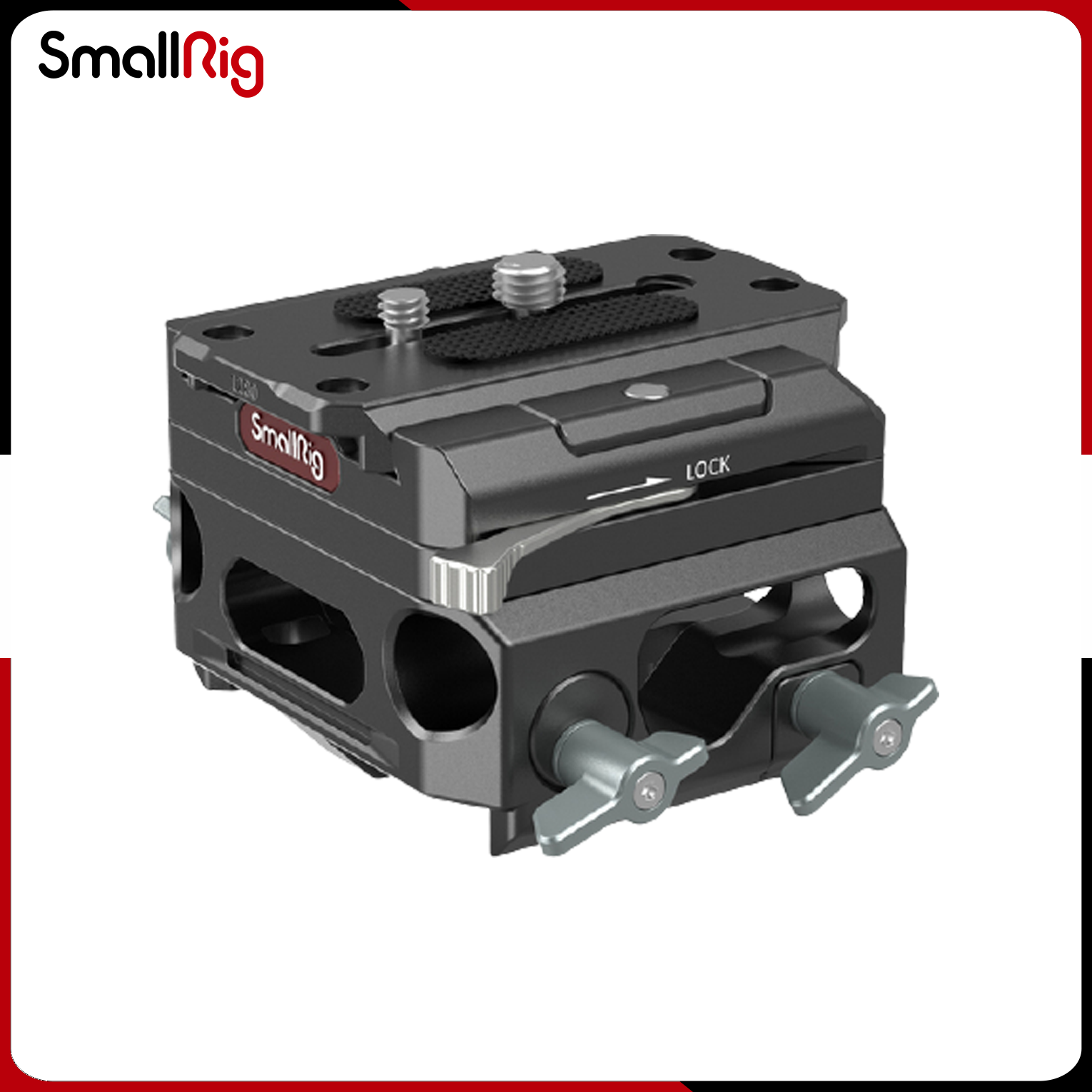 SmallRig Lightweight Baseplate with Dual 15mm Dual Rod Clamp (magnesium alloy )