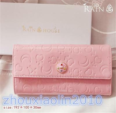 Sailor Moon Moon Prism 20th Anniversary Cosplay Girls Wallet Pink Purse Gift New