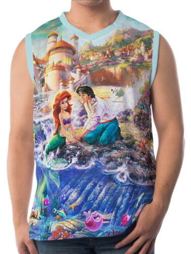 Little Mermaid Mens Vest Sleeveless Singlet Tank Top aao30157