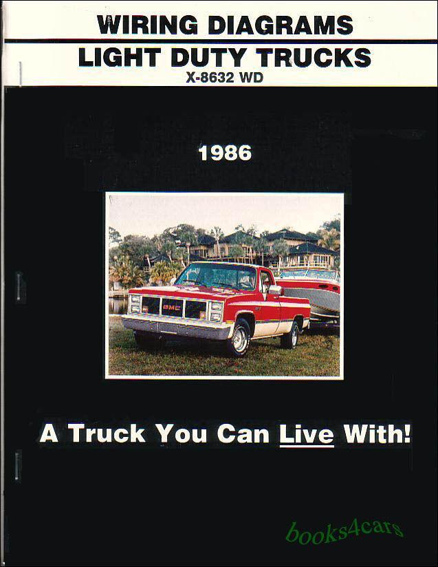 Truck Manual Wiring Diagram Book 1986 Chevrolet Gmc C K Pickup Suburban 10 Ebay