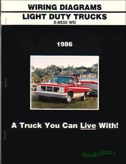 truck manual wiring diagram book 1986 chevrolet gmc c/k pickup suburban 10