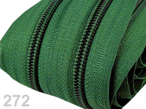 10 Zipper-muchos colores 5mm-espiral-incl 5m infinito cremallera 0,79 €//m