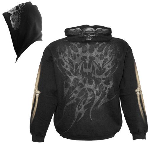 Aperta Cappuccio Direct biker gothic Con Spiral Scheletro Cerniera tattoo wR4xCWaq