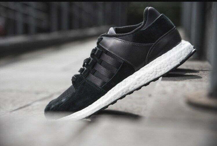 Adidas Support EQT Support Adidas Ultra Boost Black White Shoes Sneakers BA7475 Mens Sz 9.5 448a09