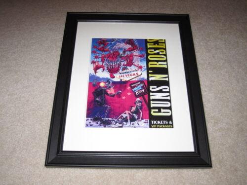 """Framed Guns 'n Roses Concert Mini Poster, Banned Cover 2012 14""""x16.5"""" RARE!"""