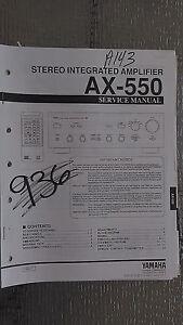 yamaha ax 550 service manual original repair book stereo amp rh ebay com repair manual asus q301l repair manual xud9