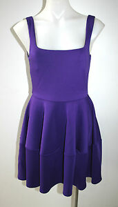 CAMILLA-AND-MARC-purple-stretch-fitted-dress-size-AU-10-349-NEW
