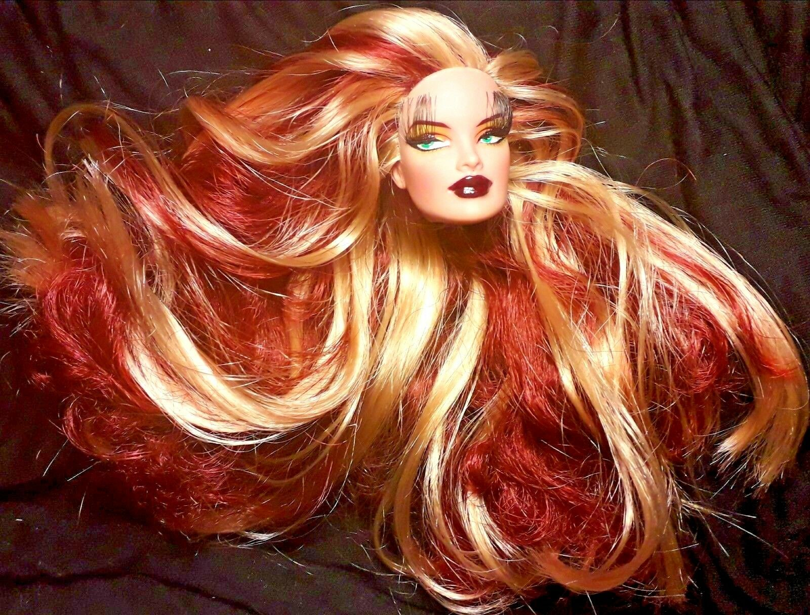FASHION ROYALTY VERONIQUE  ONLY HEAD      barbie muse FR  ART DOLL OOAK