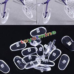 Almohadillas-de-Nariz-de-Silicona-empuje-en-atornillar-de-gafas-Gafas-13mm-Oval