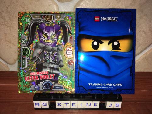 LE20 Lego Ninjago Trading Card Game Serie 3 Oni Masken ULTRA VIOLET Cards NEU