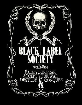 BLACK LABEL SOCIETY cd lgo LINEWORK CREST Official SHIRT MD New fire it up mafia