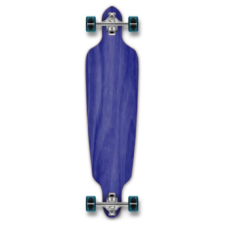 Yocaher Drop Through Blank Longboard Complete - Stained bluee