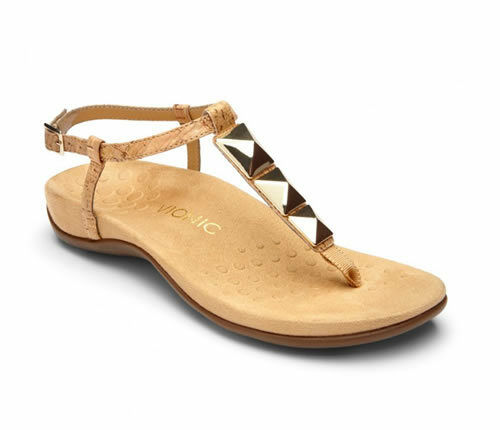Vionic Nala gold gold gold Cork Toe Post Ankle Strap Sandal Women's sizes 5,9,10,11 NEW a5d1e5