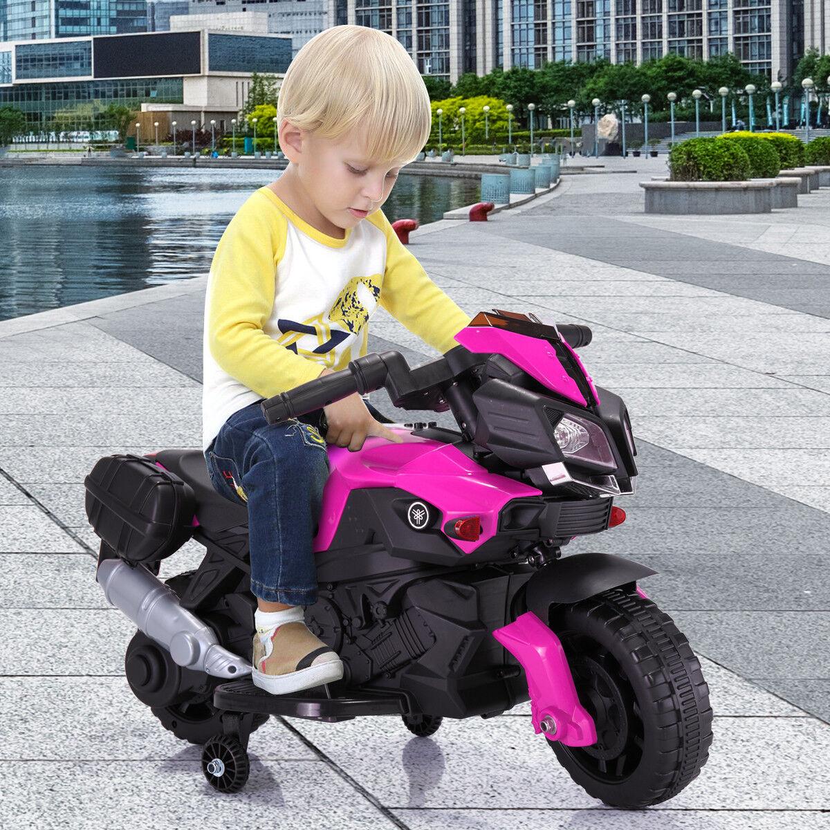 Kinder reiten auf motorrad 6v batteriebetriebene elektrische spielzeug w   ausbildung rad Rosarot