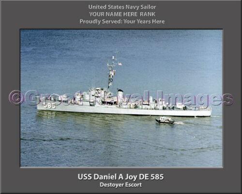 USS Daniel A Joy DE 585 Personalized Canvas Ship Photo Print Navy Veteran Gift