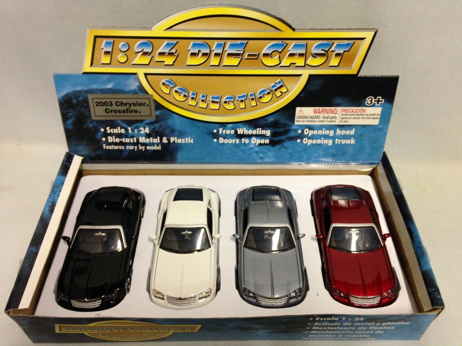 2003 Chrysler Crossfire 4 Pcs Set Collectibles 7  Diecast 1 24 MotorMax Toy Mix