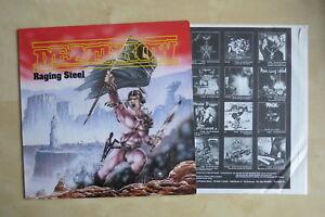DEATHROW-Raging-Steel-German-orig-vinyl-LP-with-inner-Noise-International-Mint