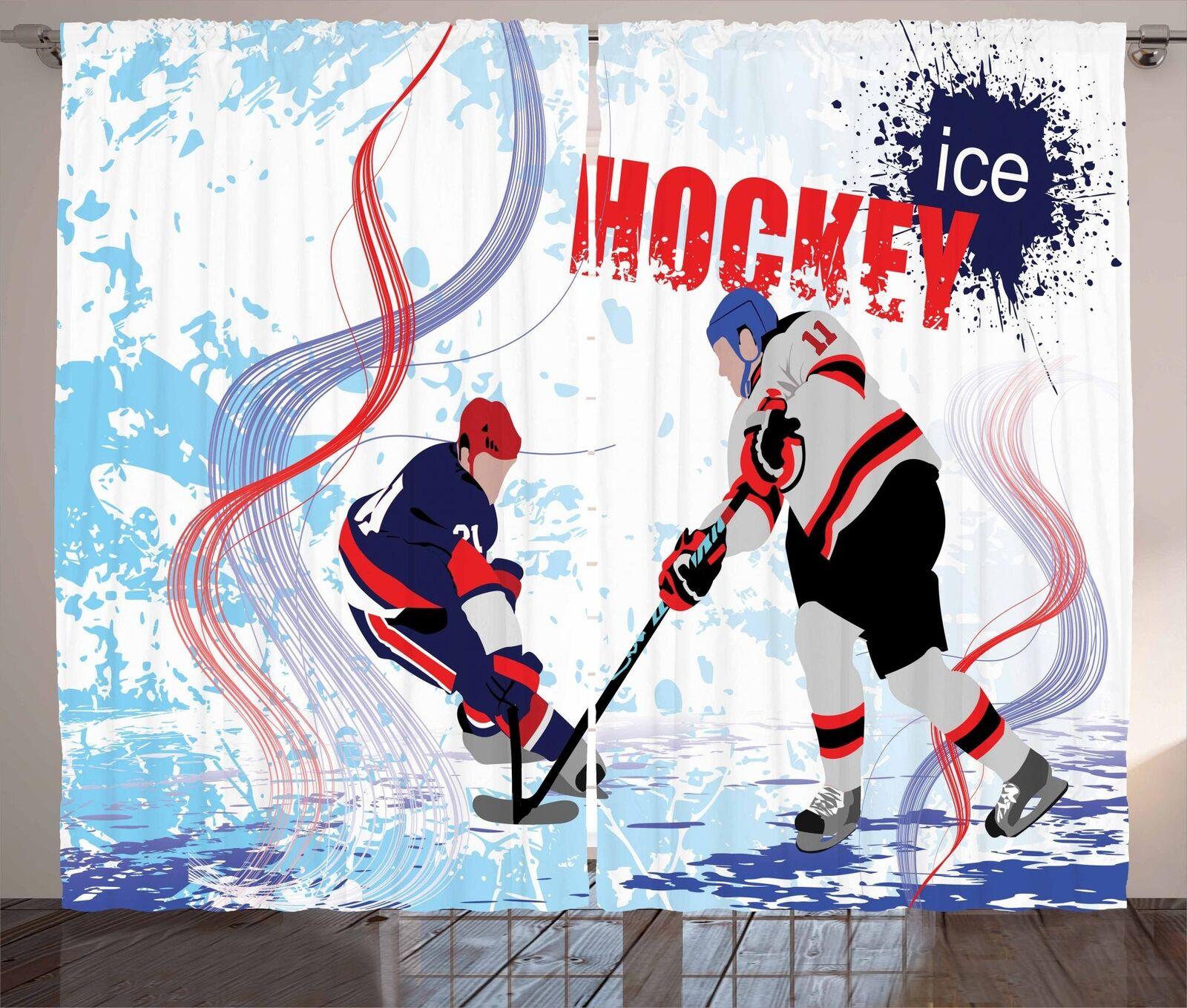 Hockey Curtains 2 Panel Set for Decor 5 Größes Available Window Drapes