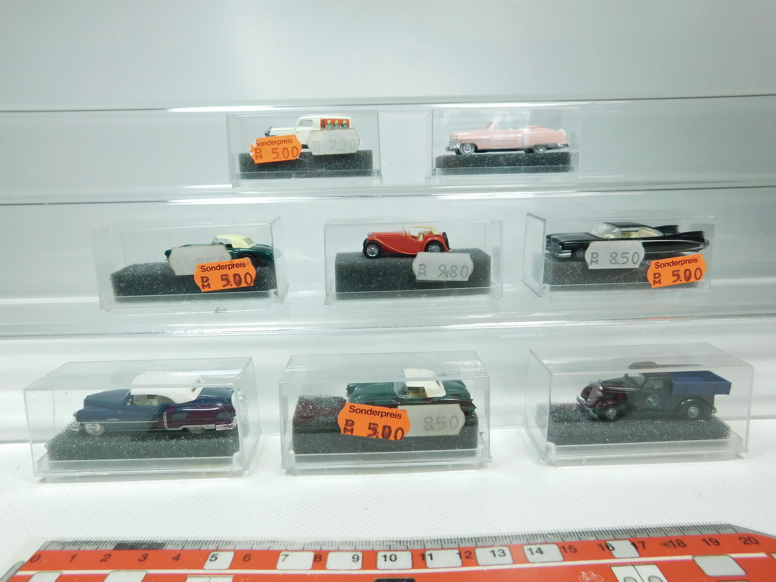 BH42-0,5x Praline Revell H0 1 1 1 87 PKW  Midget+MB+Cadillac+Chevy etc, NEUW+OVP 12c7e4