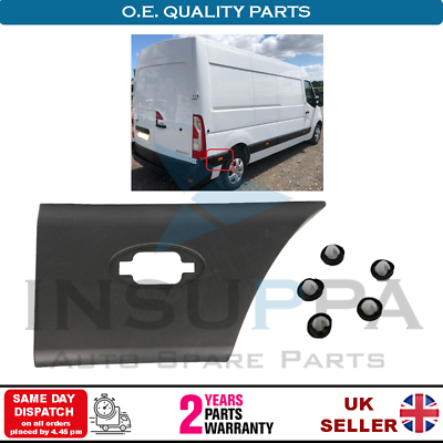 Vauxhall Movano 2010-2016 Side Moulding Strip Rear Panel Right Side for Opel